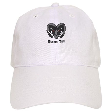 Grey Ram It Head Baseball Cap