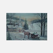 Silent Night-Charles Roy Rectangle Magnet