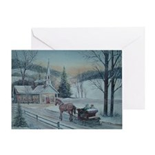Silent Night-Charles Roy Greeting Card