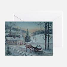 Silent Night-Charles Roy Greeting Card