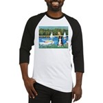 Sailboats & Border Collie Baseball Jersey