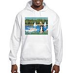 Sailboats & Border Collie Hooded Sweatshirt
