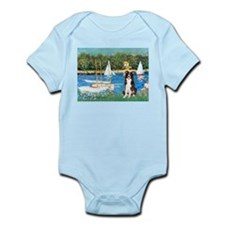 Sailboats & Border Collie Infant Bodysuit