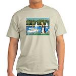 Sailboats & Border Collie Light T-Shirt