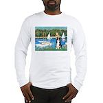 Sailboats & Border Collie Long Sleeve T-Shirt