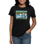 Sailboats & Border Collie Women's Dark T-Shirt
