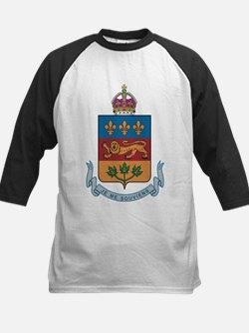 Quebec Coat Of Arms Kids Baseball Jersey