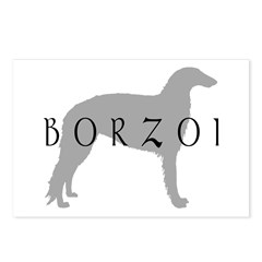 borzoi dog breed Postcards (Package of 8)