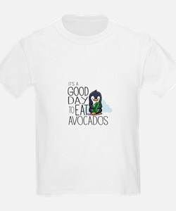 Its a Good Day to Eat Avocados Penguin T-Shirt