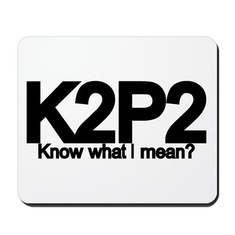 K2P2 Knit & Purl Mousepad