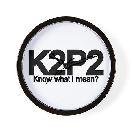 K2P2 Knit & Purl Wall Clock
