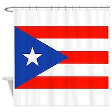 Puerto Rican Boricua Flag Bandera Orgullo Shower C