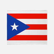 Puerto Rican Boricua Flag Bandera Orgullo Throw Bl