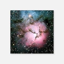 "Galaxy nebula space stars h Square Sticker 3"" x 3"""