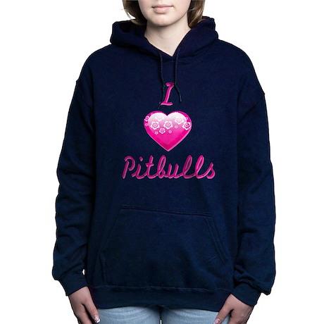 I Love/Heart Pitbulls Hooded Sweatshirt