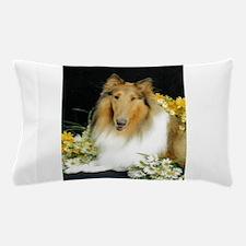 Collie Flowers Pillow Case