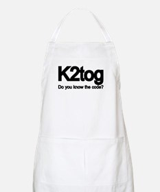 K2tog Knit Together BBQ Apron