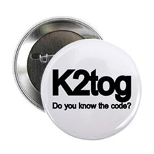 K2tog Knit Together Button