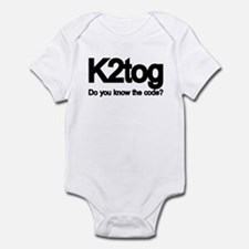 K2tog Knit Together Infant Bodysuit