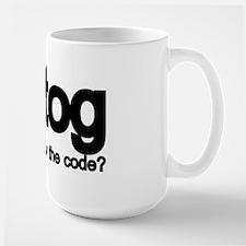 K2tog Knit Together Large Mug