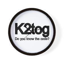 K2tog Knit Together Wall Clock