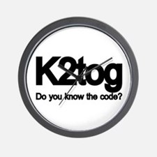 K2tog Knit Together Wall Clock