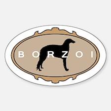 Borzoi Dog Breed Oval Decal
