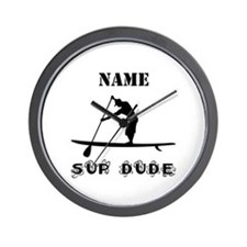 SUP Dude (Personalized) Wall Clock