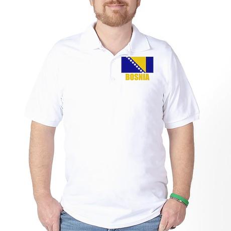Bosnia Flag Golf Shirt