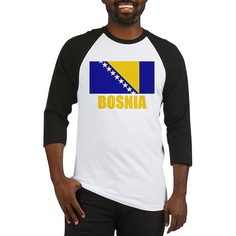Bosnia Flag Baseball Jersey
