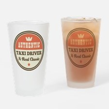 Taxi Driver Vintage Drinking Glass