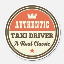 Taxi Driver Vintage Round Car Magnet