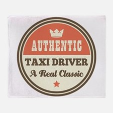 Taxi Driver Vintage Throw Blanket