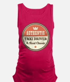 Taxi Driver Vintage Maternity Tank Top