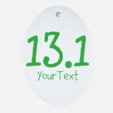 Customize GREEN 13.1 Ornament (Oval)