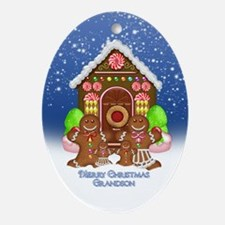 Grandson Christmas Gingerbread Ornament (Oval)