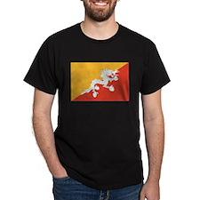 Bhutan Flag T Shirts T-Shirt