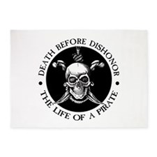 Death Before Dishonor 5'x7'Area Rug