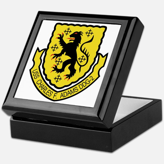 USS Charles F. Adams Arms Keepsake Box