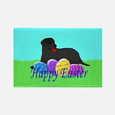 Black Labrador Retriever Rectangle Magnet (100 pac