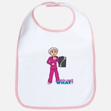 X-Ray Tech Medium Pink Scrubs Bib