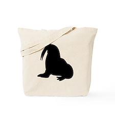 Walrus Silhouette Tote Bag