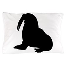 Walrus Silhouette Pillow Case