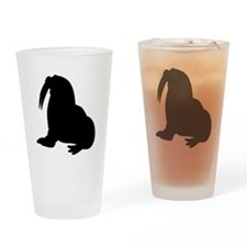 Walrus Silhouette Drinking Glass