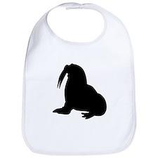 Walrus Silhouette Bib