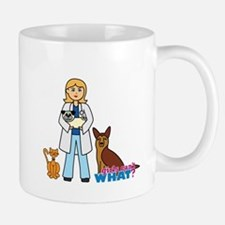 Woman Veterinarian Blonde Hair Mug
