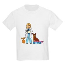 Woman Veterinarian Blonde Hair T-Shirt