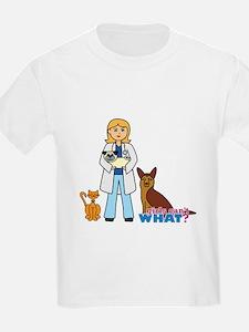 Woman Veterinarian Blonde Hair T-Shirt