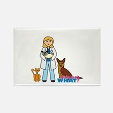 Woman Veterinarian Blonde Hair Rectangle Magnet