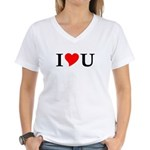 I Love U Women's V-Neck T-Shirt